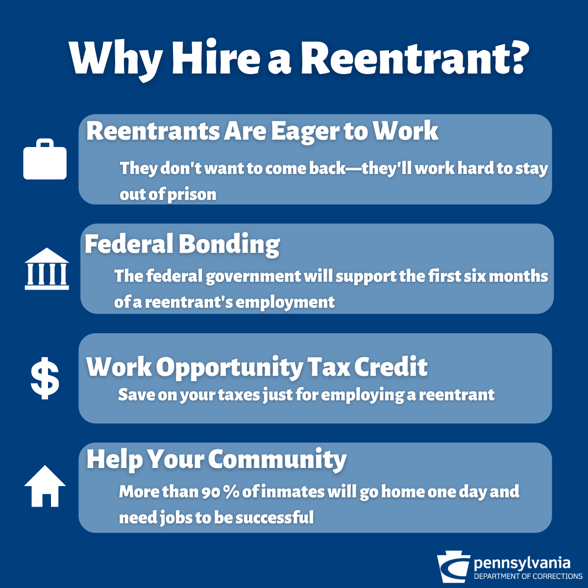 A graphic about why you should hire a reentrant